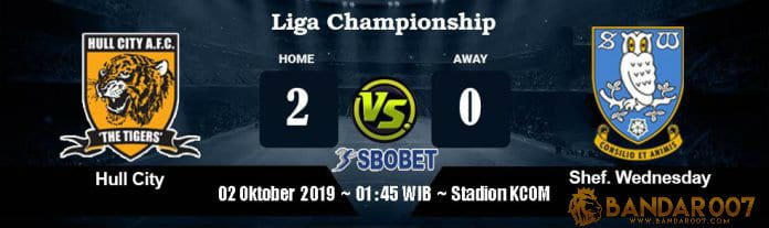 Prediksi Bola Hull City Vs Sheffield Wednesday 02 Oktober 2019